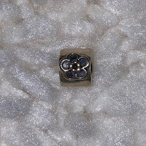 Pandora Daisy Flower Black Enamel Charm RETIRED